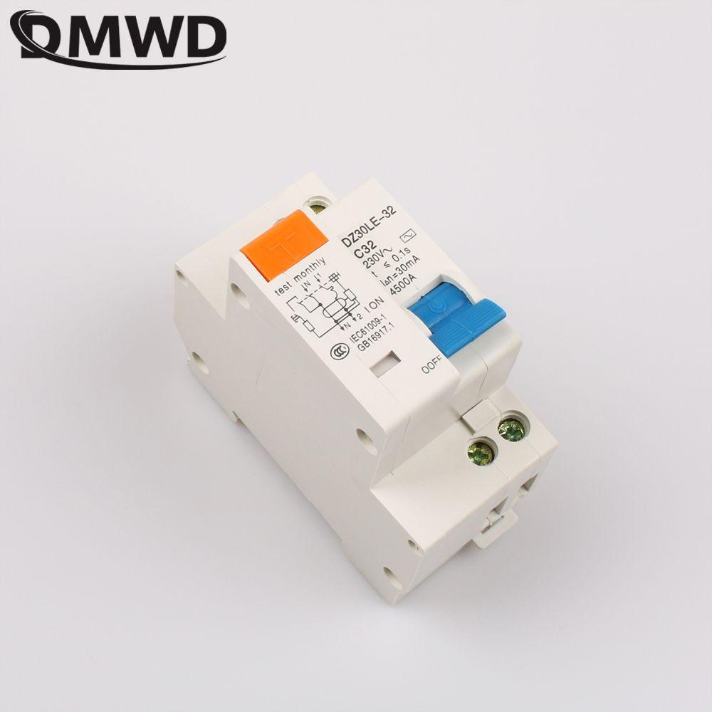 DMWD DPNL DZ30LE-32 1 P + N 32A 230 V 220 V 50 HZ 60 HZ Fehlerstromschutzschalter mit Überstromschutz Und Leck RCBO