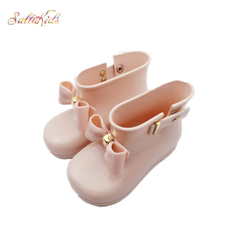 Водонепроницаемый ребенок резиновые Сапоги и ботинки для девочек желе мягкий детской обуви обувь для девочки Детские дождь Сапоги и ботинк...