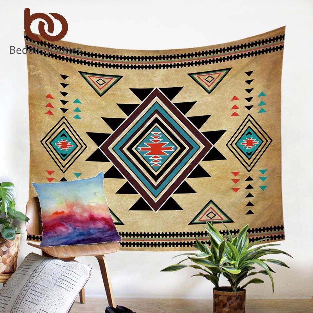 BeddingOutlet géométrique tapisserie tenture murale sud-ouest décoratif mur Art aztèque couvre-lits draps 150x200cm livraison directe