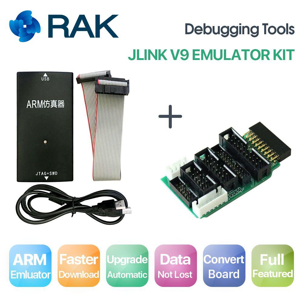 JLINK V9 Emulator Kit Simulator mit Konvertieren bord USB kabel Schwarz farbe debugging-tools, AMR Emulator unterstützung JTAG/Cortex/STM32