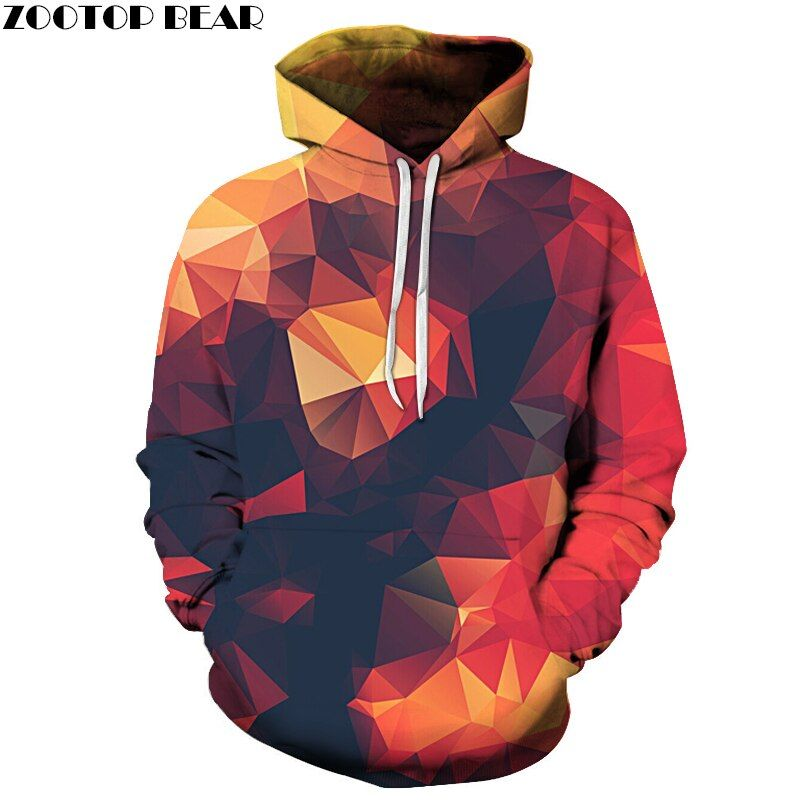 Hot Sale Men Sweatshirts 3D Hoodie Male Tracksuits Pullover Hoody Streetwear Coat With Hat Print 6XL Orange Drop <font><b>Ship</b></font> ZOOTOPBEAR