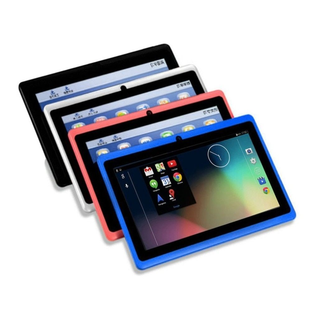 7 Inch kids Tablets HD 1080P Quad Core Dual Camera Tablet Bluetooth Wifi 512M+8G Movies Games Tablet for Android 4.4.2