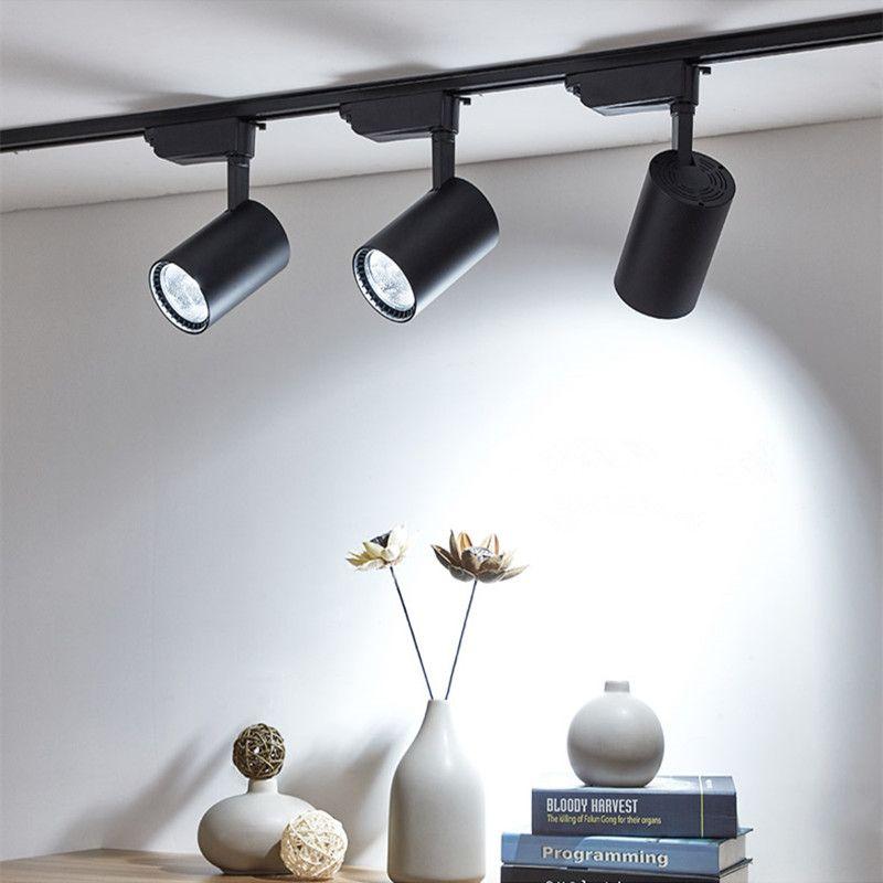 L'épi 12W 20W 30W a mené les projecteurs en aluminium de Rail de Rail de plafond d'éclairage de Rail de tache remplacent les lampes d'halogène AC220V