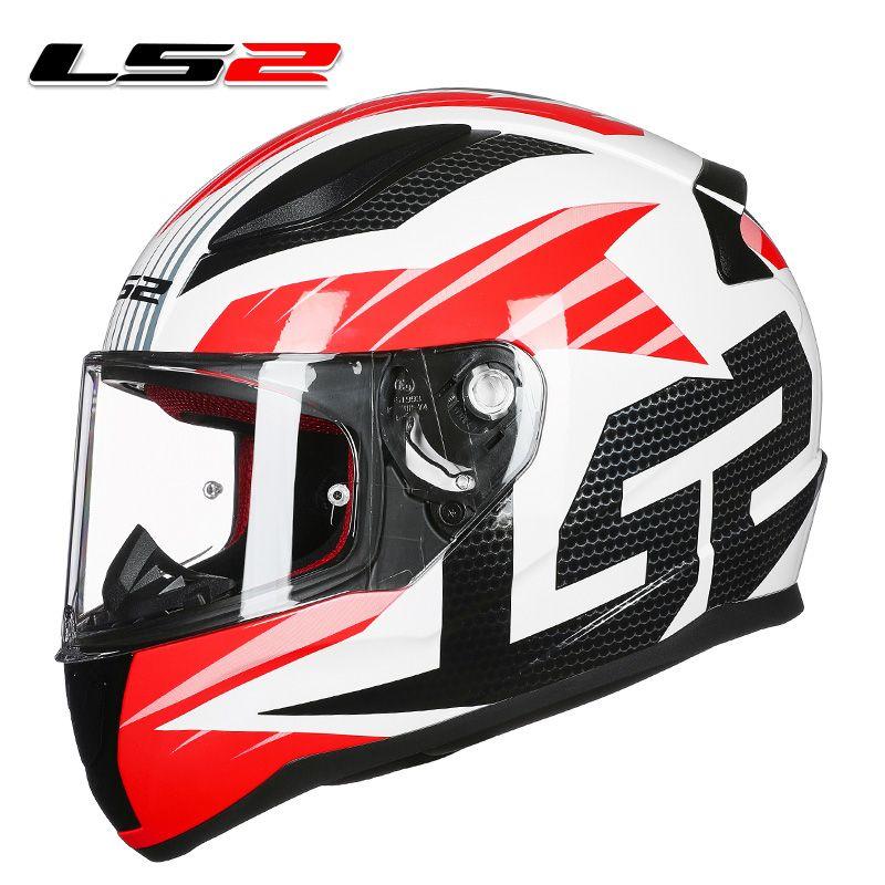 LS2 FF353 high quality full face motorcycle helmet man woman racing motorbike helmets ABS reinforced shell rapid moto helmets