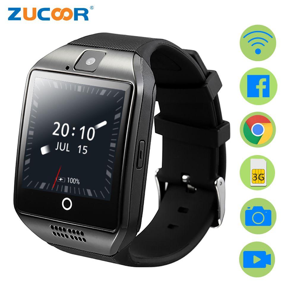 Zucoor Смарт-часы GPS Relogio Для Мужчин's Женские часы сенсорных телефонов ZW95 Android электронные Фитнес Водонепроницаемый Reloj inteligente