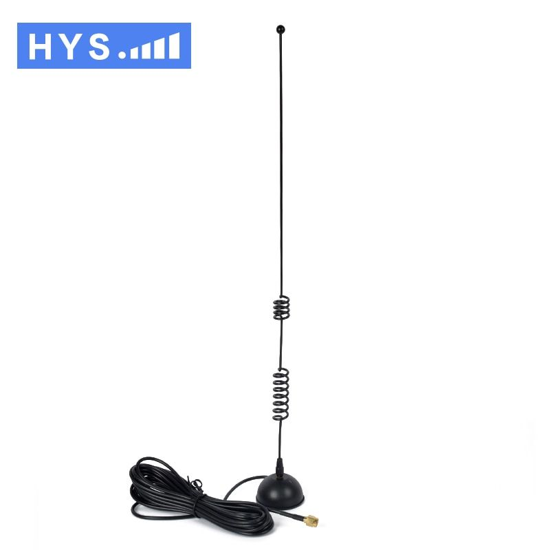 2017 Baofeng HYS-MS801 Antenna Cable SMA-Male Magnetic Dual Band VHF/UHF Mobile Magnet Indoor Walkie Talkie Antenna Two Way Ham