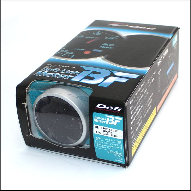 2.5 Inch 60mm Defi BF Gauge Car Boost Meter, Red Light Color