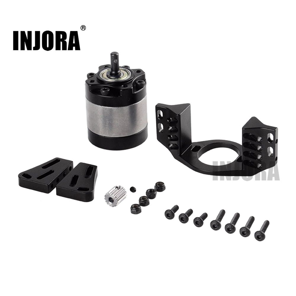INJORA Metal 1:5 Gear Ratio D90 Gearbox with Mount Transmission Case for 1/10 RC Crawler Car
