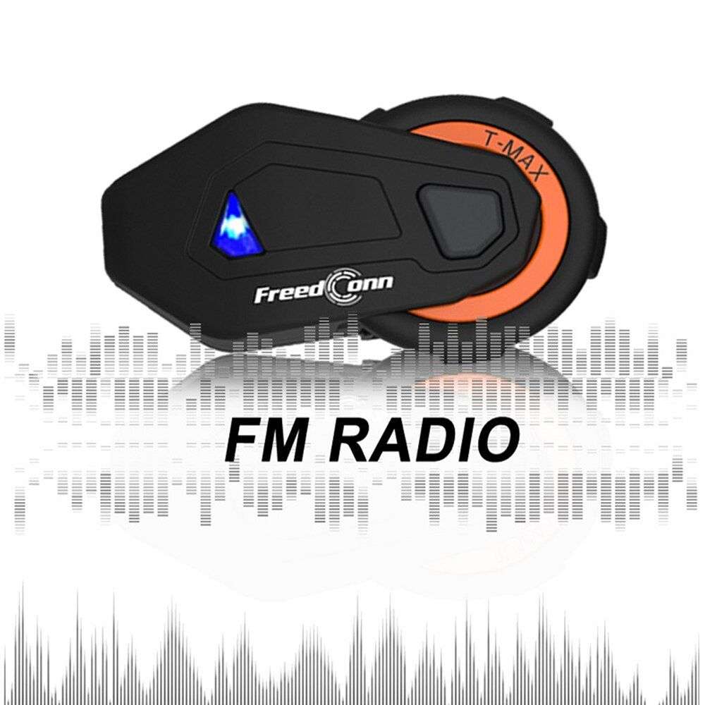 Freedconn T-MAX motorcycle helmet bluetooth headset intercom 8 riders group intercom BT Interphone FM Radio Bluetooth 4.1