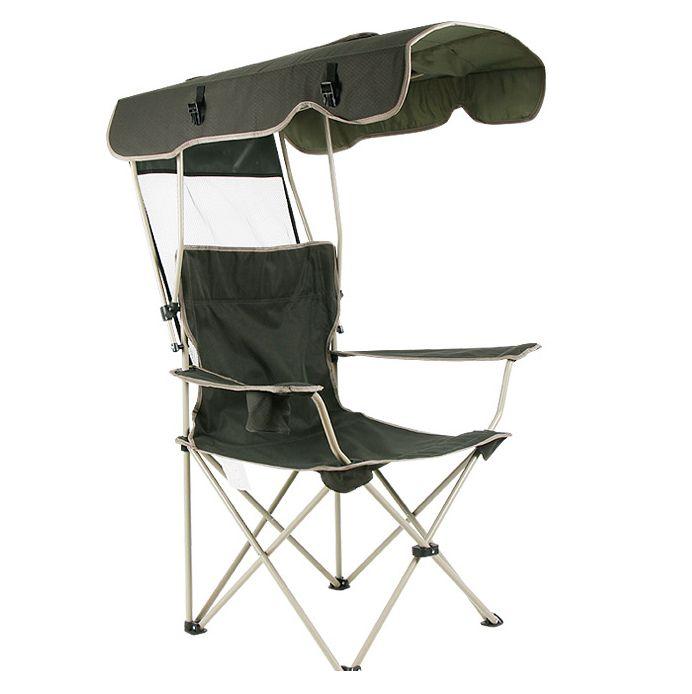 Patiomöbeln freizeit sonnenschutz klapp stühle mit Sun shelter angeln strand stühlen garten stuhl für single man