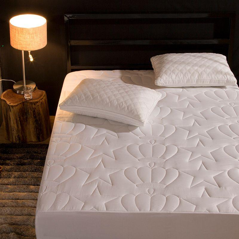 1 pc 100% Polyester Fiber drap housse matelas couverture quatre coins avec bande élastique drap de lit