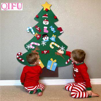 QIFU DIY чувствовал, украшение елки новогоднее; рождественское елки Рождественский подарок 2018 рождественские украшения для дома дети