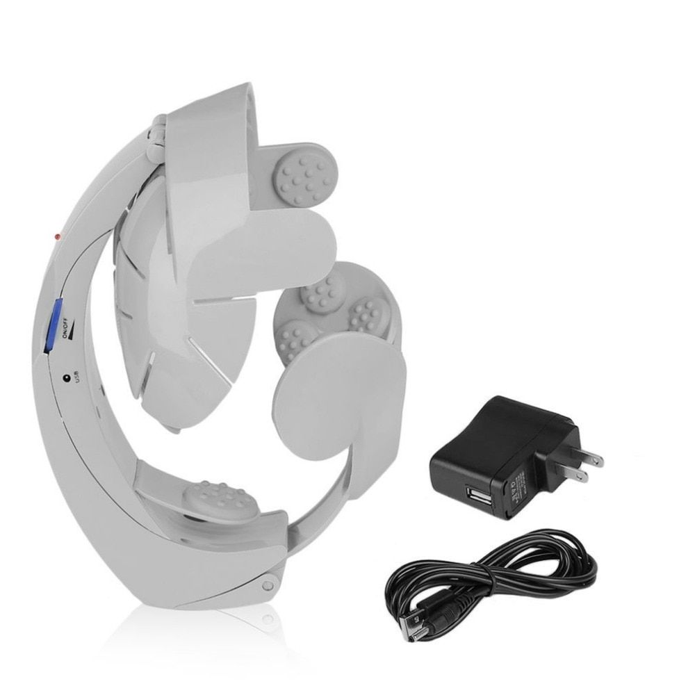 Humanized Design Electric Head Massager Brain Massage Relax Easy Acupuncture Points Fashion Gray Health Care Home