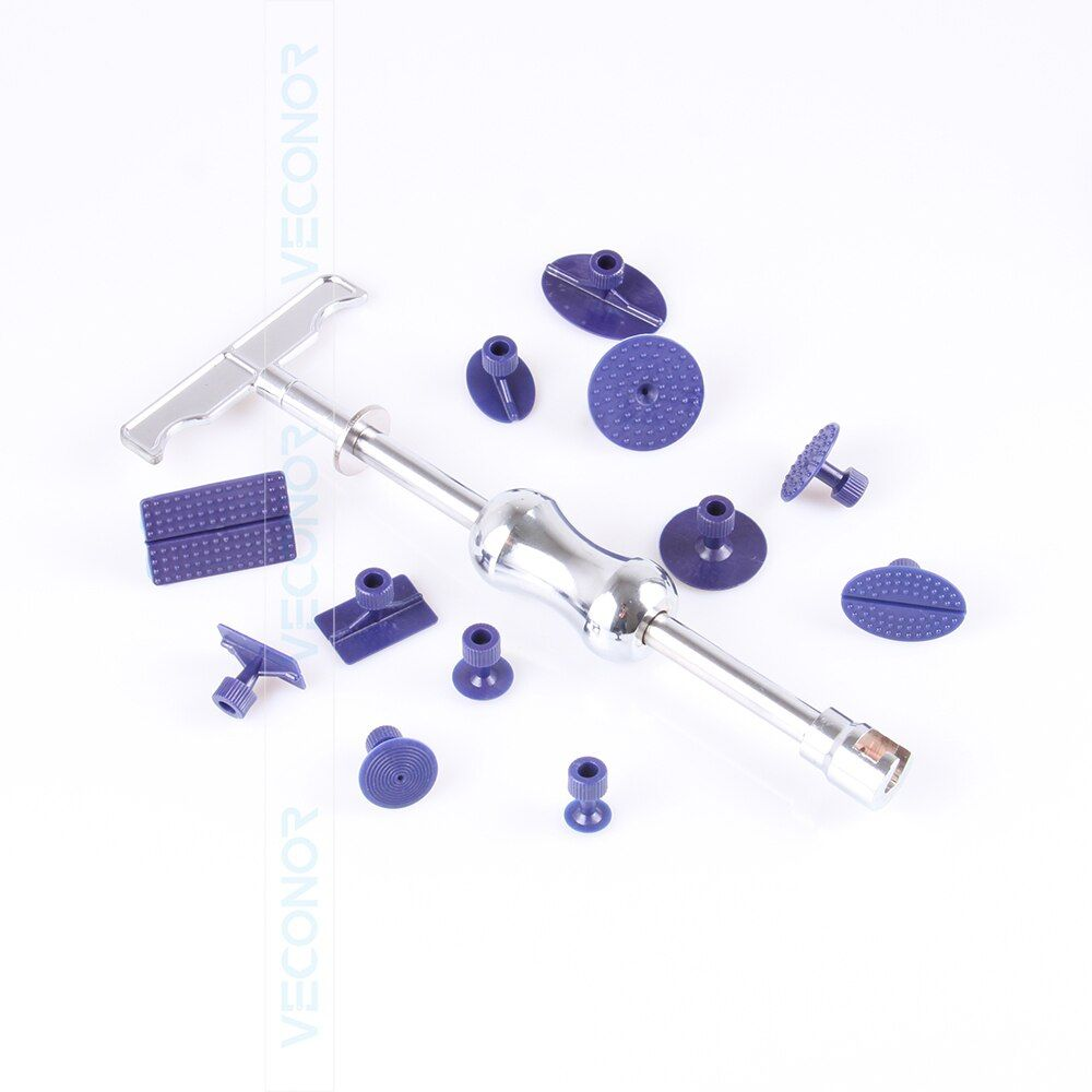12 pieces PDR slide hammer dent puller with 12 pcs glue puller tabs auto repair tools dent removal tool