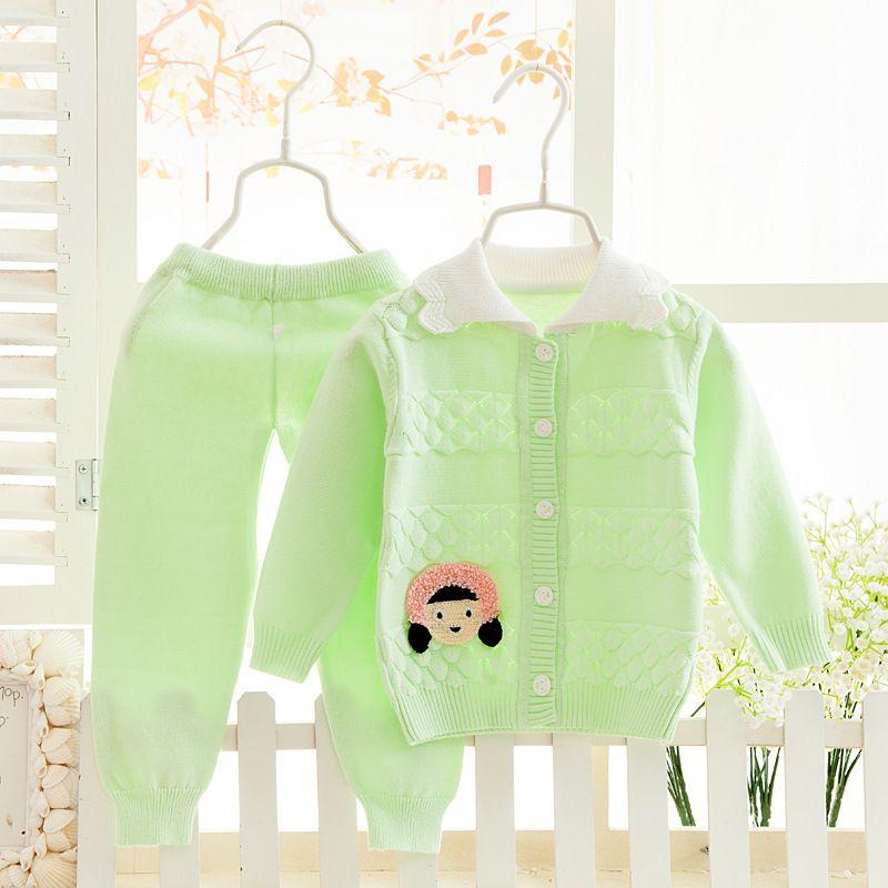 Одежда для маленьких девочек Теплые хлопковые Наборы для младенцев w170-w176