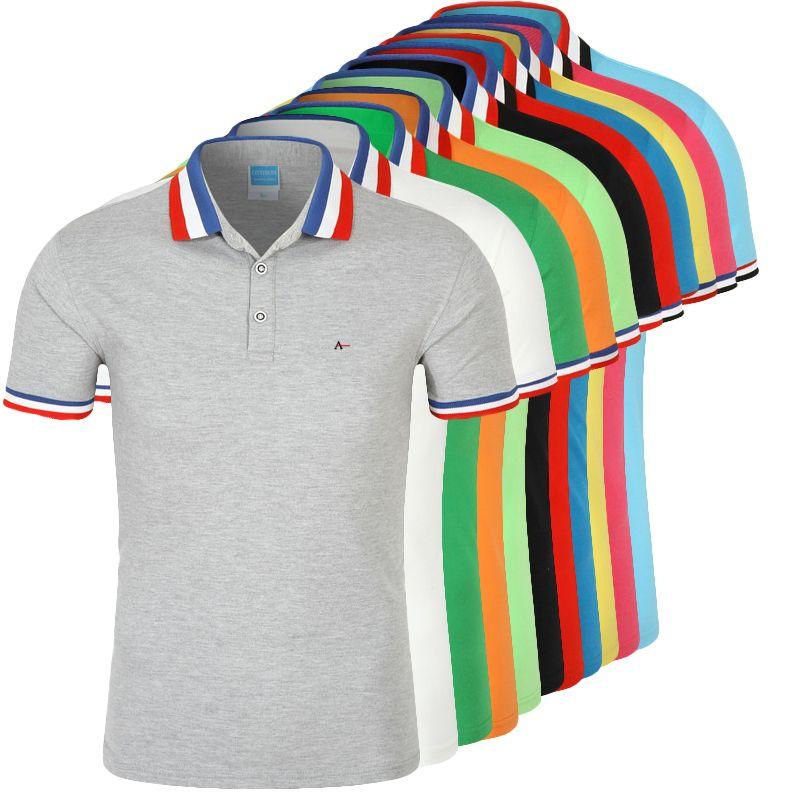 DUDALINA Polo Shirt Men Camisa Polos Masculina De Marca Sergio k Cotton Men's Casual Business Short-Sleeved White Black Polo