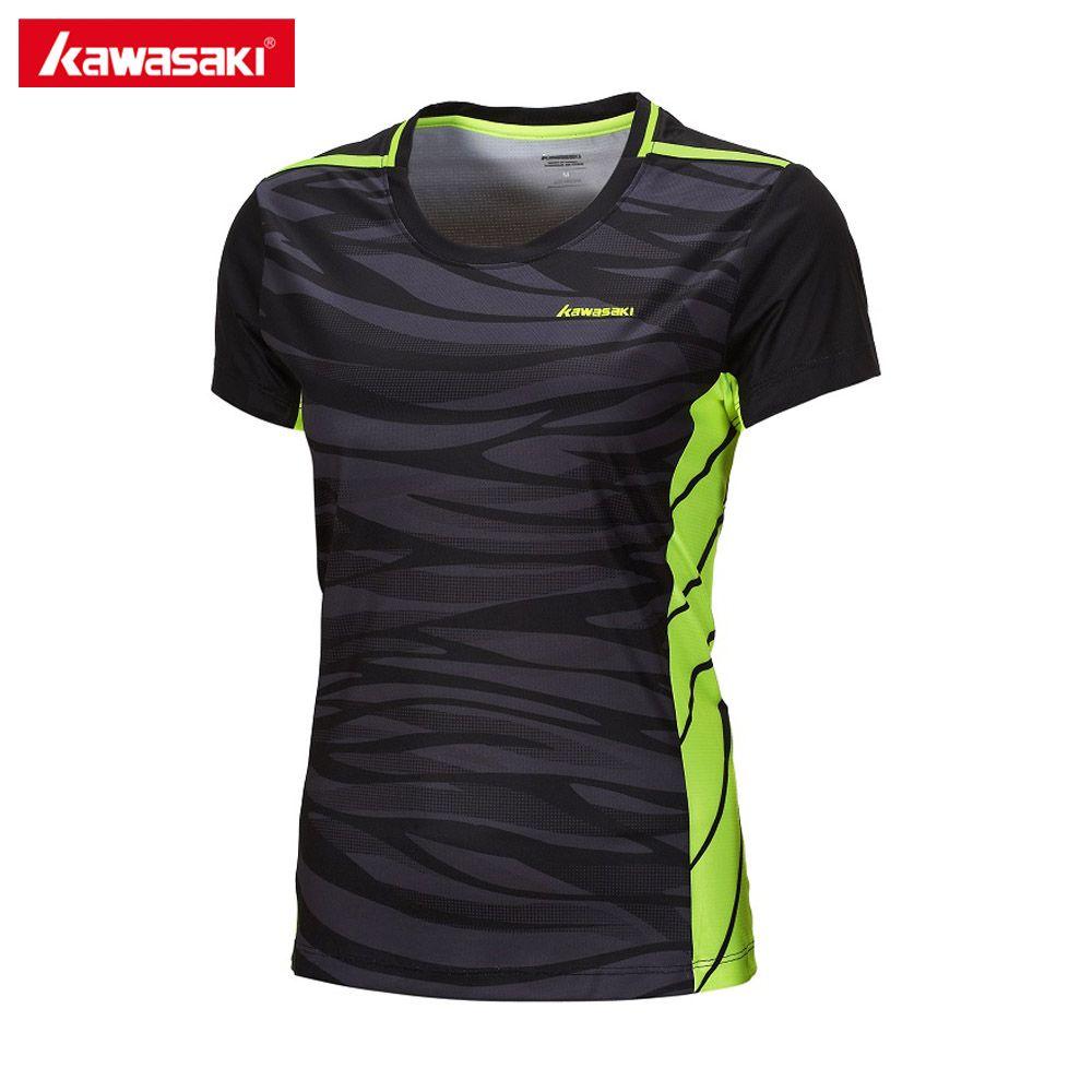 2017 Kawasaki Kleidung für Frauen Kurzarm T-shirt Tennis Badminton Kleidung O Ansatz Fitness T Shirts Quick Dry ST-172022