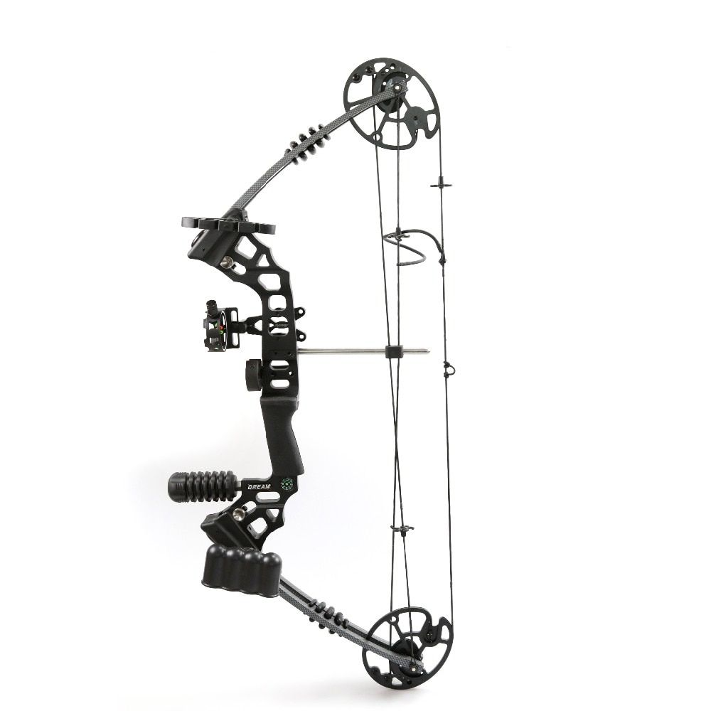 Left / Right Hand shooter Aluminum Alloy Pro Compound Bow with 20-70 Lbs Draw Weight for Human Adult Archery Shooting Hunting