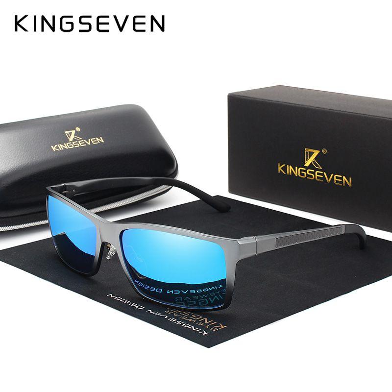 KINGSEVEN marque Design mode aluminium magnésium lunettes de soleil hommes polarisés conduite lunettes pour hommes UV400 Oculos N7021