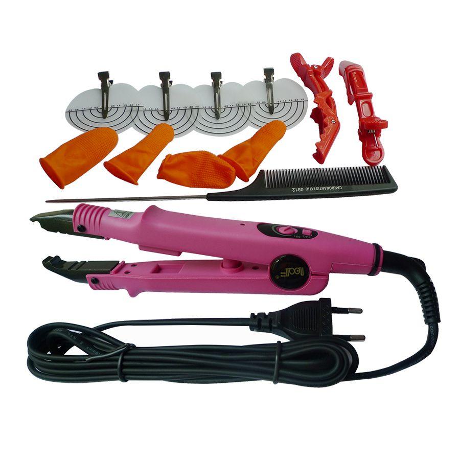 Rose Noir Professionnel Loof Stiletto Chaleur Baguette Chaleur Pince Cheveux Extensions Outils Connecteurs Fer Pour Extensions de Cheveux L-611