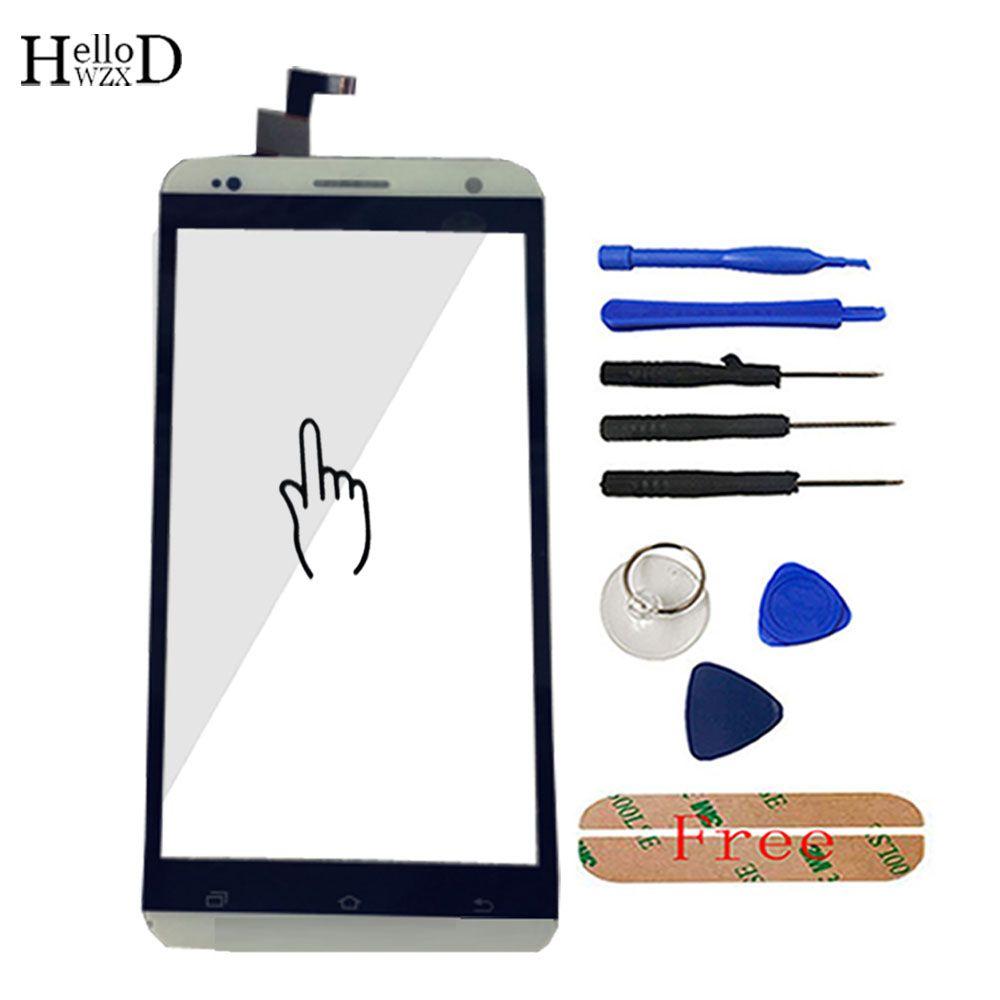 HelloWZXD Für Vkworld VK700 Pro Touchscreen Glas Frontglas Digitizer Verkleidungs-objektiv Sensor Flex Kabel Werkzeuge + Klebe Geschenk