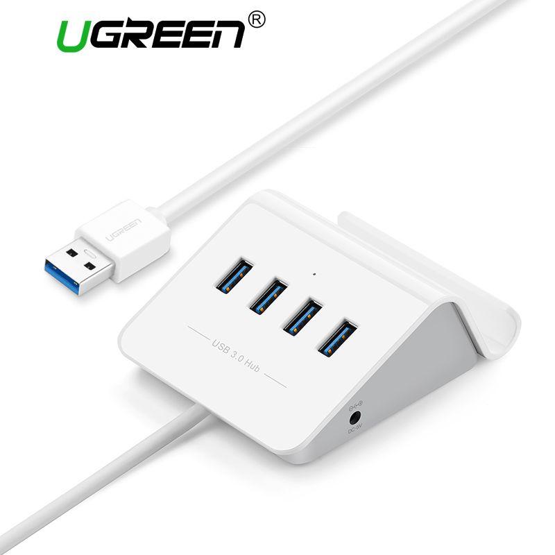 Ugreen USB 3.0 HUB mit Telefon Halter 4 Port USB HUB USB-Splitter Power Adapter für iMac Computer Laptop Zubehör HUB USB 3.0