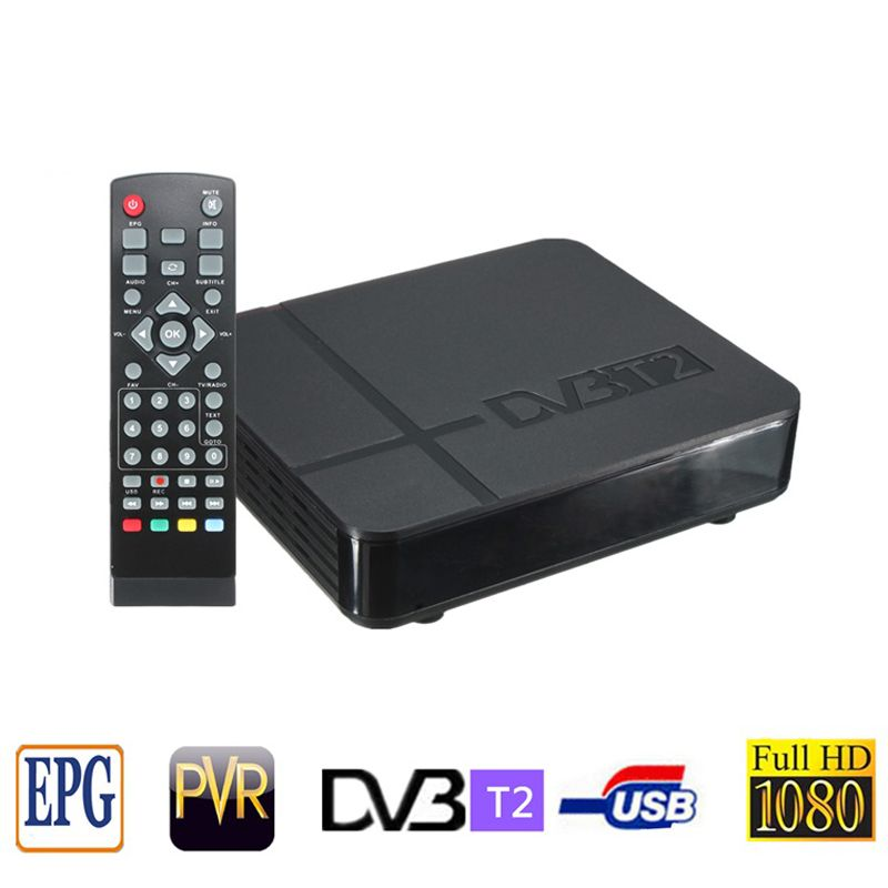 DVB T2 тюнер MPEG4 DVB-T2 HD Совместимость Set Top Box ТВ приемник w/RCA/HDMI PAL/NTSC автоматическое преобразование коробка Россия/Европа/Таиланд