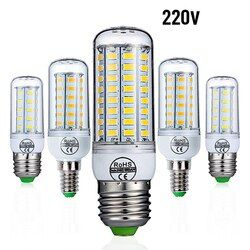 E27 LED Bohlam E14 Lampu LED AC 220 V 240 V Corn Lilin Lampu 24 36 48 56 69 72 LED Chandelier Lighting untuk Dekorasi Rumah Lampu LED