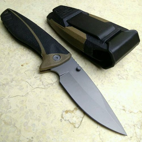 [Große Molde] Faltende blatt-messer Schwarz Farbe Überleben Messer camping ourdoor EDC werkzeuge mit Mantel