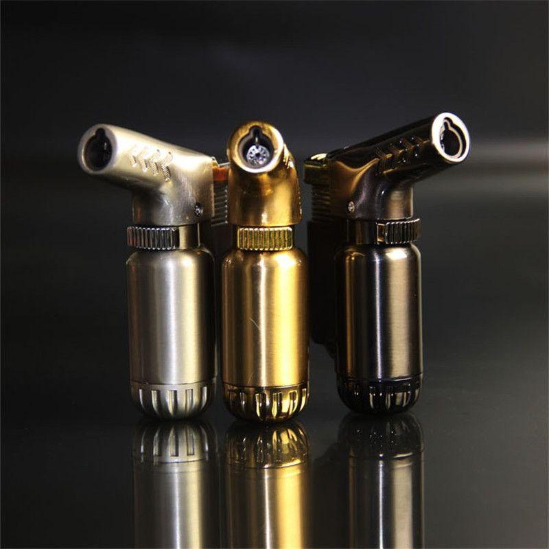 Hot Compact Butane Jet Lighter Turbo Torch Lighter Fire Windproof Spray Gun Metal Lighter 1300 C NO GAS Cigarette Accessories