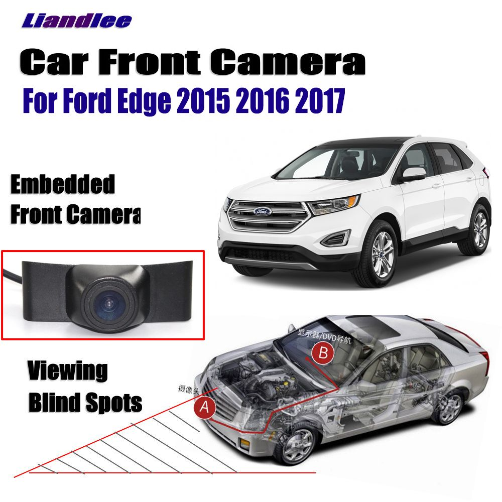 Liandlee Camera Car Front View Camera For Ford Edge 2015 2016 2017 Logo Grill Embedded 4.3