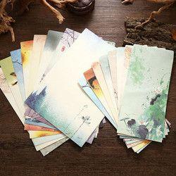Coloffice 1 Set (4 Lettre et 2 Enveloppes) Papier Chinois Style Élégant Créatif Carte De Voeux Lettre Papaer De Stockage Kawaii Étudiant