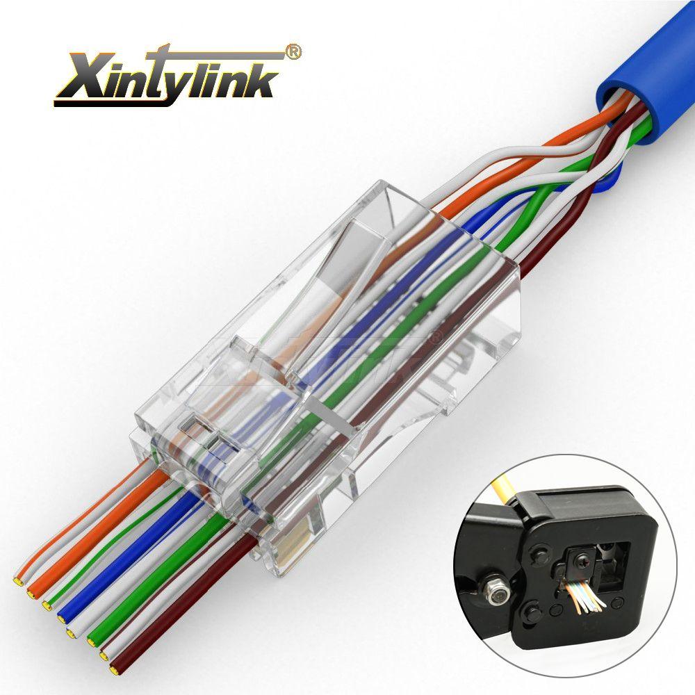Xintylink EZ connecteur rj45 cat6 rj 45 plug cat5e utp 8P8C réseau conector câble ethernet cat 6 blindé modulaire 50 pcs 100 pcs