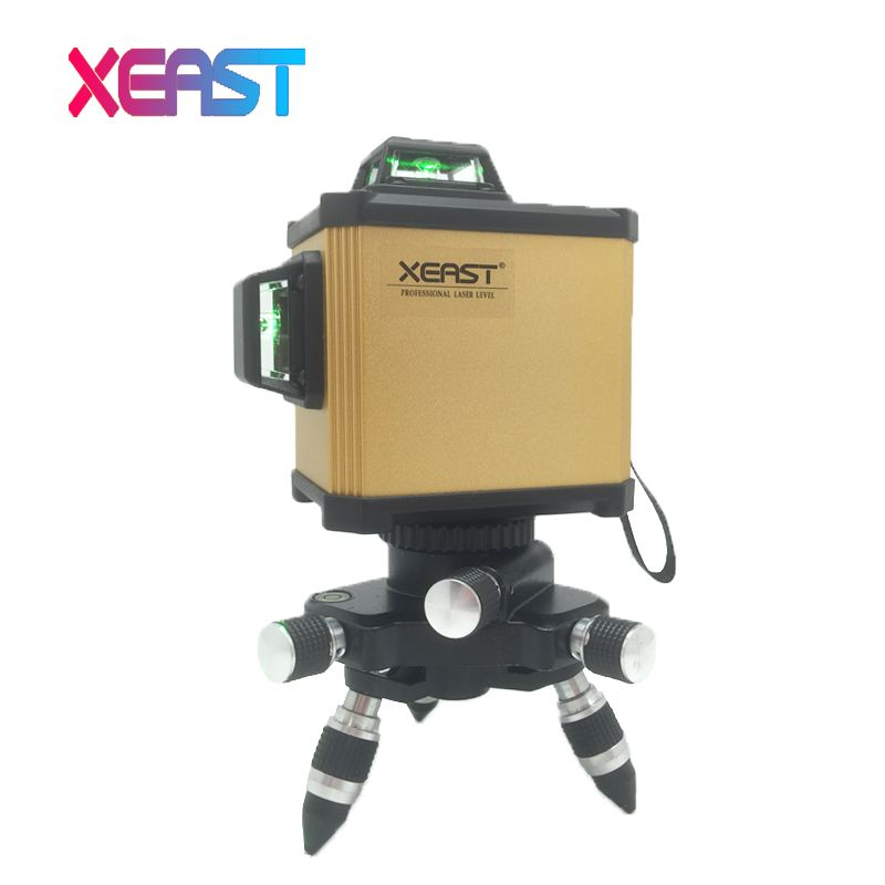 XEAST XE-93G Electronic Leveling 12 Line 3D Laser Level High precision Green Laser Level Lithium Battery Cross Line