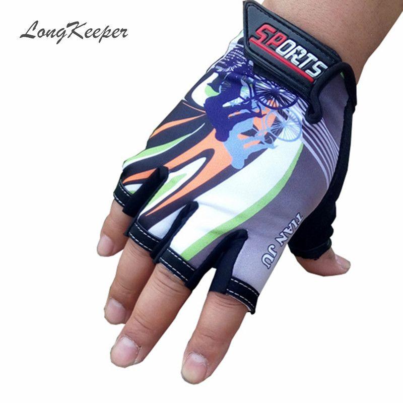 LongKeeper Halbe Fingerhandschuhe für Frauen Männer Radfahren Radfahren Handschuhe Sport Guantes Fingerlose Wandern Racing Radfahren Luvas