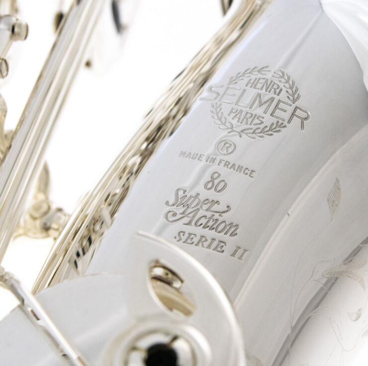 Brand New Silver Plated SELMER Alto Saxophone SA 80 II 802 Jubilee model 52 - SHIPS FREE WORLDWIDE