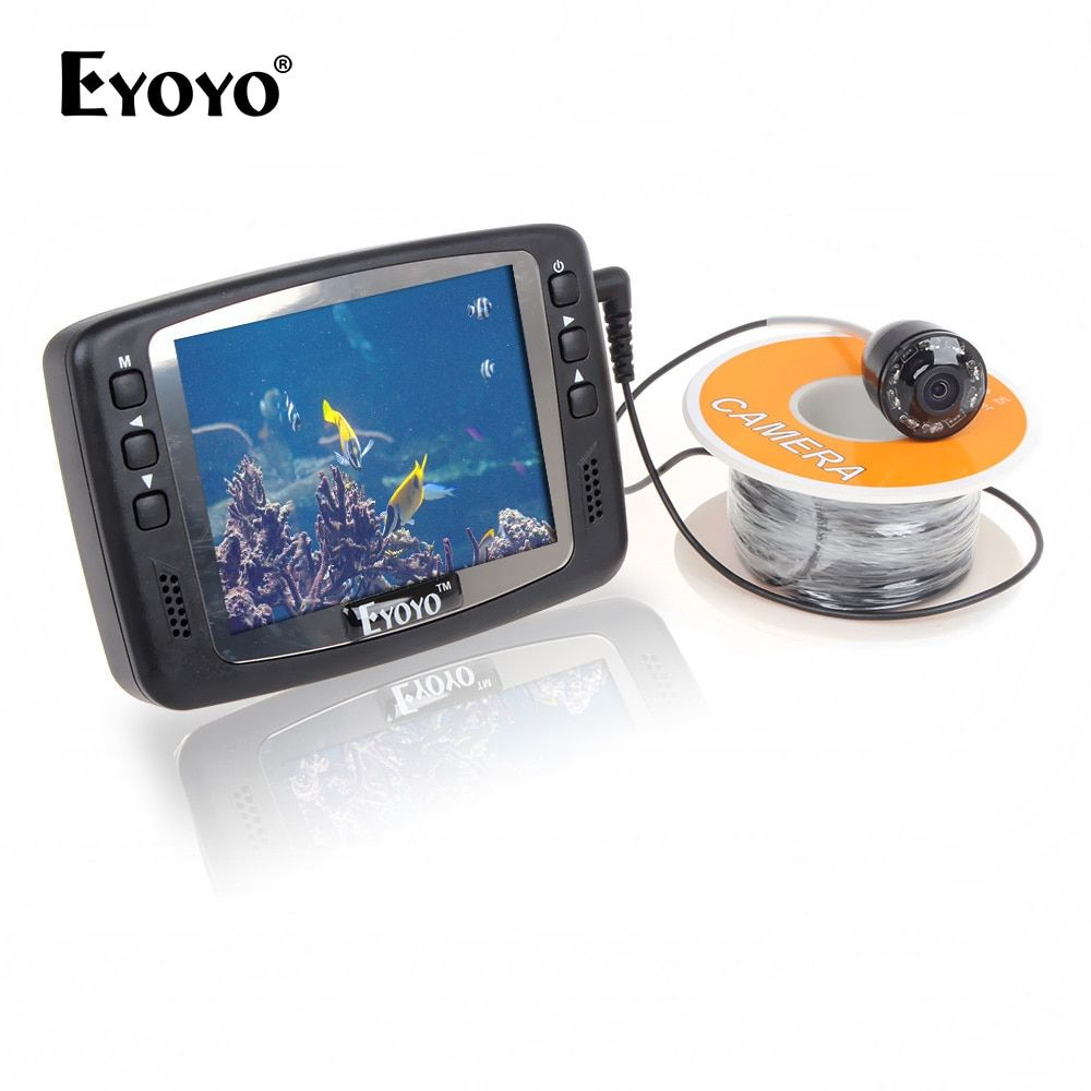 Eyoyo Original 1000TVL Underwater Ice Video Fishing Camera Fish Finder 15m Cable 3.5'' Color LCD Monitor infrared LED