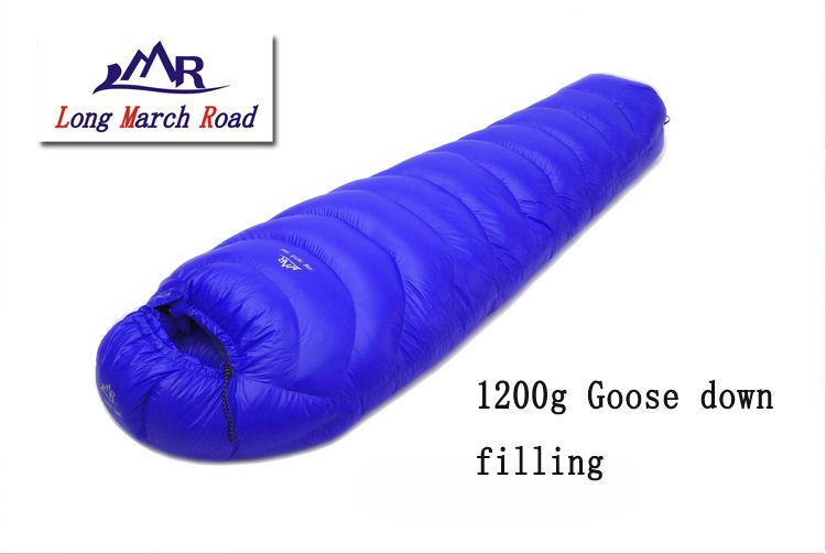 LMR white goose down 1200G filling outdoor camping splicing mummy ultra-light sleeping bag