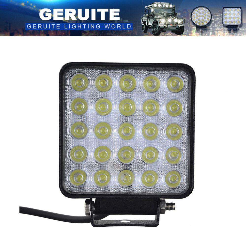 75W projecteur 25x3W 12-24V 7500 LM barre de lumière LED de voiture comme lumière de tache de travail pour la navigation de plaisance chasse pêche partie éclairage extérieur