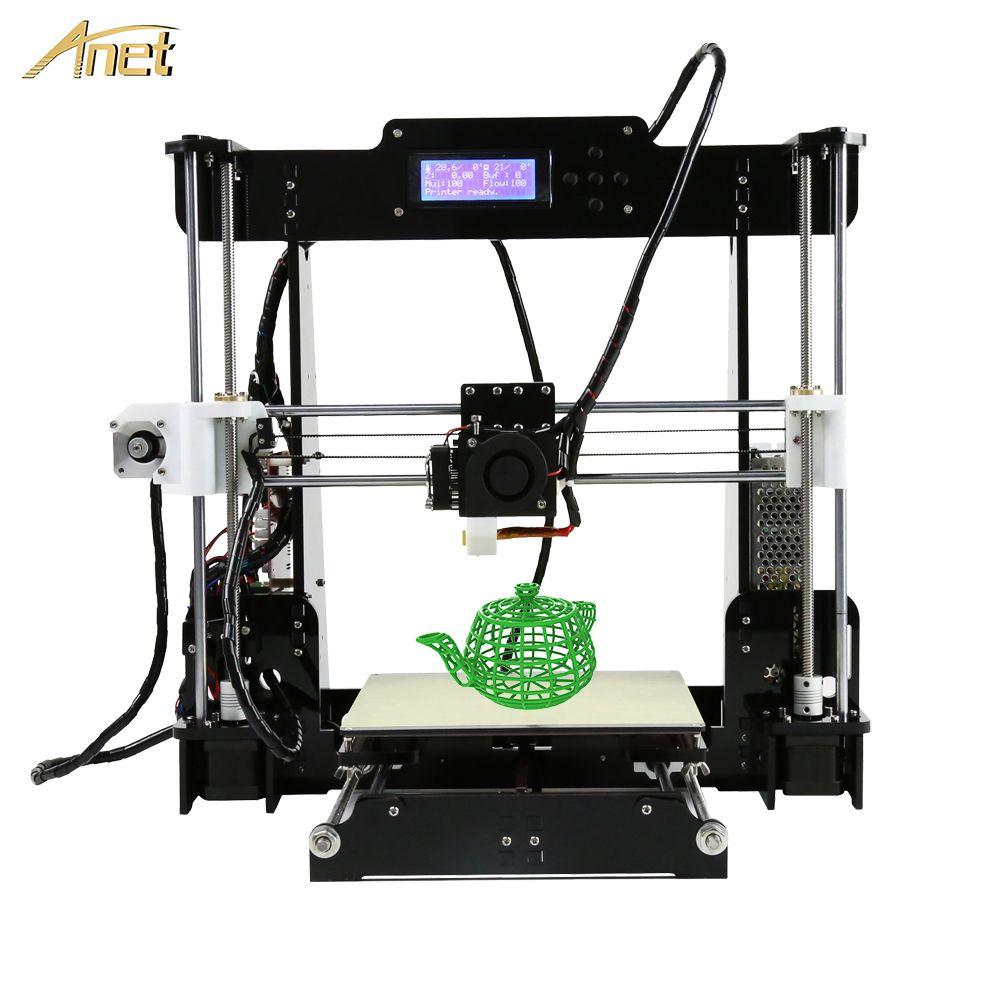 Anet A8 cheap 3d printer High Precision Extrusion nozzle Reprap Prusa I3 DIY Kit impressora 3d with PLA ABS Filament 8GB SD Card