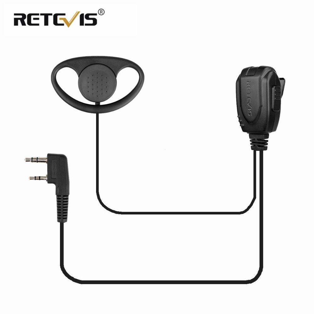 D-type oreillette oreillette casque talkie-walkie casque pour Kenwood Baofeng UV-5R UV5R UV-82 888 S rechape H777/RT22/RT81/RT-5R