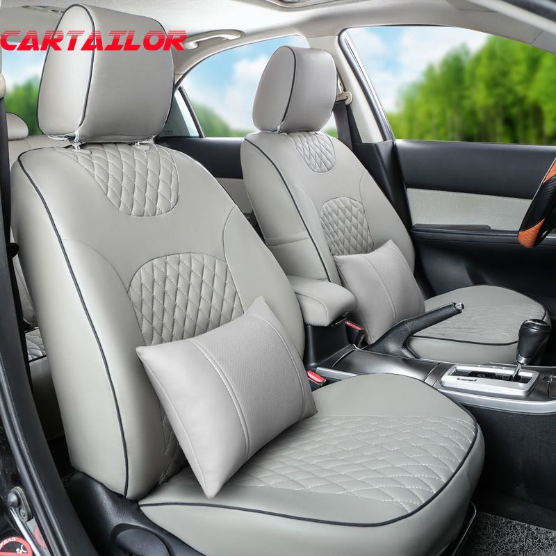 CARTAILOR cover seat protector for suzuki grand vitara car seat covers PU leather interior accessories black seat cushion pad
