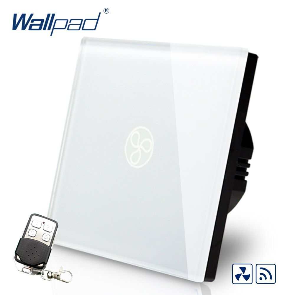 Remote Fan Speed Regulator Wallpad EU Standard Touch Switch AC 110~250V Wall Light Switch With Remote Controller