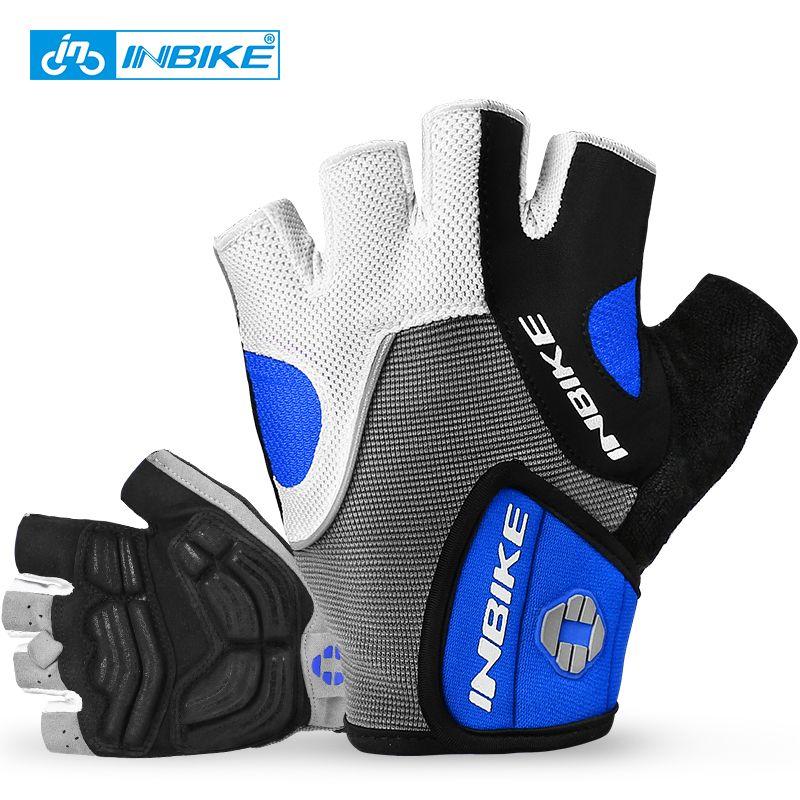INBIKE gants de cyclisme hommes gants de VTT 5 MM Gel Pad amortisseur anti-dérapant course respirant vtt route vélo gants