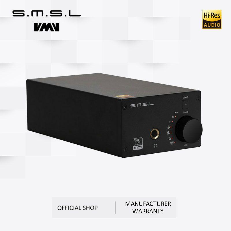 SMSL M7 2xAK4452 32Bit/768KHz DSD512 Hallo-fi Audio USB DAC mit Kopfhörer Verstärker USB Koaxial Optischen Eingang RCA 6,35 Jack Ausgang