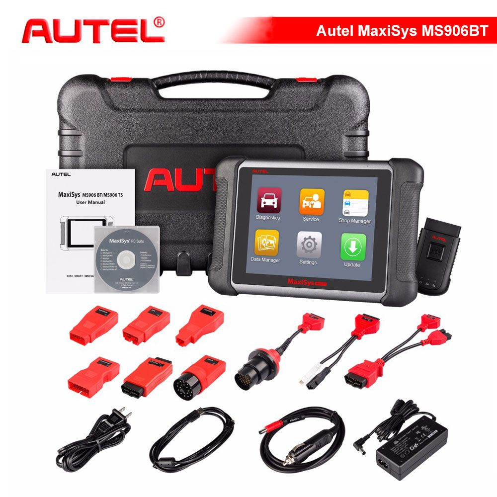 Original AUTEL MaxiSys MS906BT Wireless Car Diagnostic Tool MS906 BT OBD2 ECU Coding Scanner Better than MaxiDAS DS708 DS808