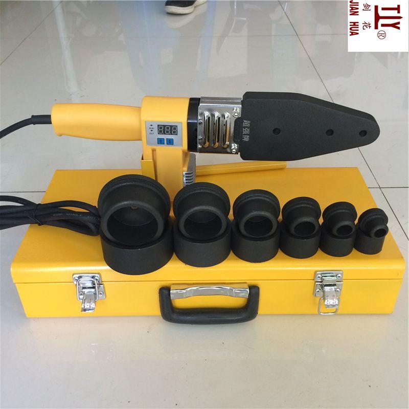 Livraison gratuite Nouveau 20-63mm numérique dispositifs d'affichage ppr tuyaux en plastique machine de soudage soudeur élément de chauffage de l'eau pour de soudage pvc
