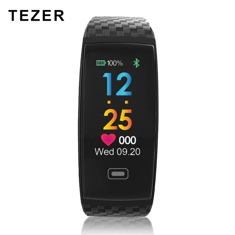 Tezer R17 Smart Bracelet Waterproof ECG Real -time Minitor Dynamic Heart Rate Sport Fitness Wristband Support USB-charge Watch