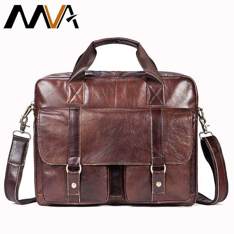 MVA Briefcases Male Genuine Leather Men Bags for Document Leather Laptop Bag Messenger Bag Men Shoulder Bags office man handbags