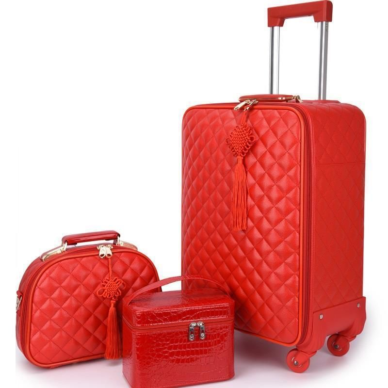 Envio Gratis Travel Bavul Kids Bag Carry On Valise Pu Leather Trolley Maleta Carro Mala Viagem Suitcase Luggage 20